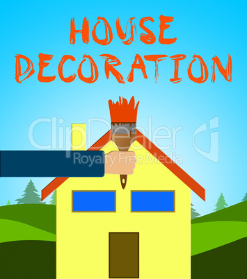 House Decoration Showing Home Painting 3d Illustration