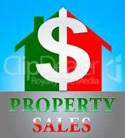 Property Sales Meaning House Selling 3d Illustration