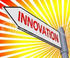 Innovation Sign Meaning Reorganization Transformation 3d Illustr