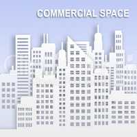 Commercial Space Represents Office Property Buildings 3d Illustr