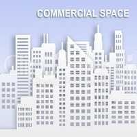 Commercial Space Represents Office Property Buildings 3d Illustr