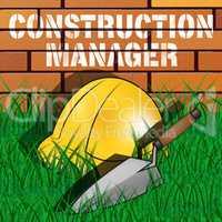 Construction Manager Shows Building Foreman 3d Illustration