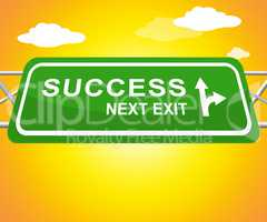 Success Sign Representing Triumphant Victory 3d Illustration