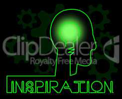 Inspiration Brain Indicating Positive Motivate And Motivation