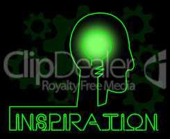 Inspiration Brain Indicating Positive Motivate And Motivation