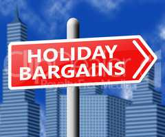 Holiday Bargains Representing Vacation Discounts 3d Illustration