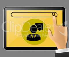 Blank Space Tablet Representing Multimedia 3d Illustration