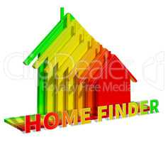 Home Finder Means Housing Residence 3d Illustration