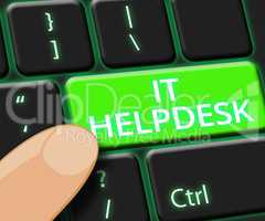 IT Helpdesk Key Shows Information Technology 3d Illustration
