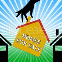 Homes For Sale Meaning Sell House 3d Illustration