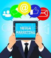 Media Marketing Meaning Emarketing Sem 3d Illustration