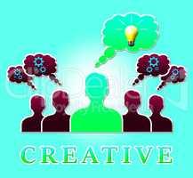 Creative Light Shows Ideas Imagination 3d Illustration