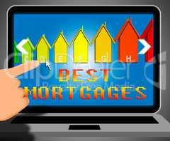 Best Mortgage Representing Real Estate 3d Illustration