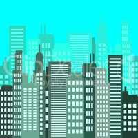 Skyscraper Buildings Shows Building Offices 3d Illustration