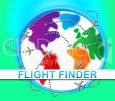 Flight Finder Indicating Flights Research 3d Illustration