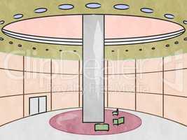 Hotel Interior Showing City Accomodation 3d Illustration