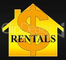 Property Rentals Meaning Real Estate 3d Illustration