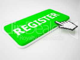 Register Key Shows Membership Admission 3d Rendering