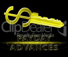 Payday Advances Means Cash Loan 3d Illustration