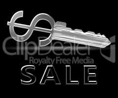 Sale Key Means Promotion And Discounts 3d Illustration