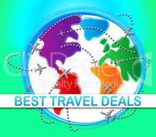 Best Travel Deals Meaning Bargains 3d Illustration