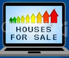 Houses For Sale Representing Sell Property 3d Illustration
