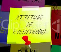 Attitude Is Everything Displays Happy Positive 3d Illustration