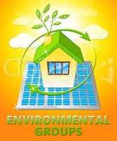 Environmental Groups Displays Eco Organizations 3d Illustration