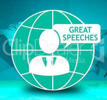 Great Speeches Icon Showing Best Talks 3d Illustration