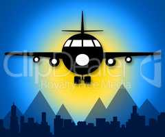 Airline Flights Meaning Online Vacations 3d Illustration