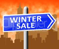 Winter Sale Shows Save Offers 3d Illustration