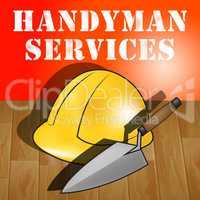 Handyman Services Represents House Repair 3d Illustration