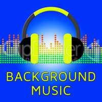 Background Music Indicates Sound Tracks 3d Illustration