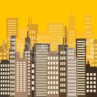 Skyscraper Buildings Describes Building Cityscape 3d Illustratio