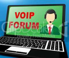 Voip Forum Showing Internet Voice 3d Illustration