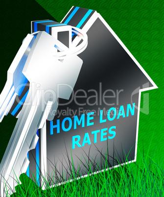 Home Loan Rates Displays Housing Credit 3d Rendering