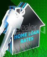 Home Loan Rates Displays Housing Credit 3d Rendering