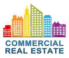 Commercial Real Estate Meaning Properties Sale 3d Illustration
