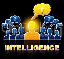 Intelligence People Representing Intellectual Capacity 3d Illust