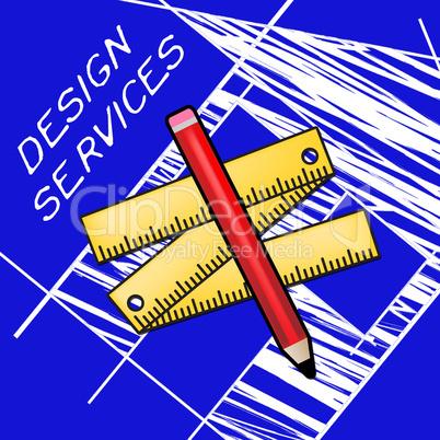Design Services Showing Graphic Creation 3d Illustration