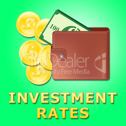 Investment Rates Showing Trade Investing 3d Illustration