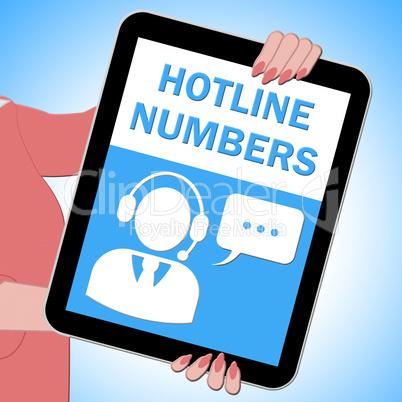 Hotline Numbers Key Showing Online Help 3d Illustration