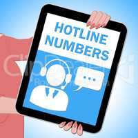 Hotline Numbers Key Showing Online Help 3d Illustration