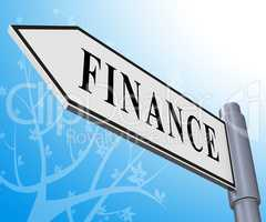 Finance Sign Meaning Financial Investment 3d Illustration
