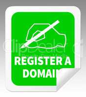 Register A Domain Indicates Sign Up 3d Illustration