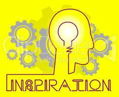 Inspiration Cogs Indicating Positive Motivate And Motivation