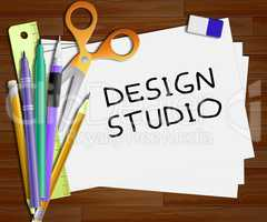Design Studio Means Designer Office 3d Illustration