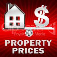 Property Prices Displays House Cost 3d Illustration