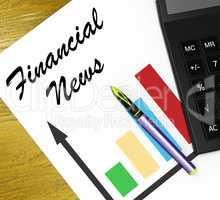 Financial News Meaning Finance Media 3d Illustration