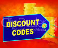 Discount Codes Means Saving Money 3d Illustration